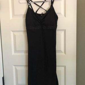 PRANA knit dress with built on shelf bra